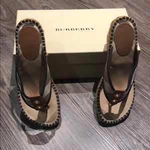 Burberry Wedge Espadrille Size 38 Great Condition